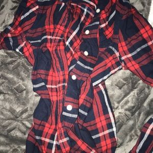 Red/Navy Blue Old Navy Flannel